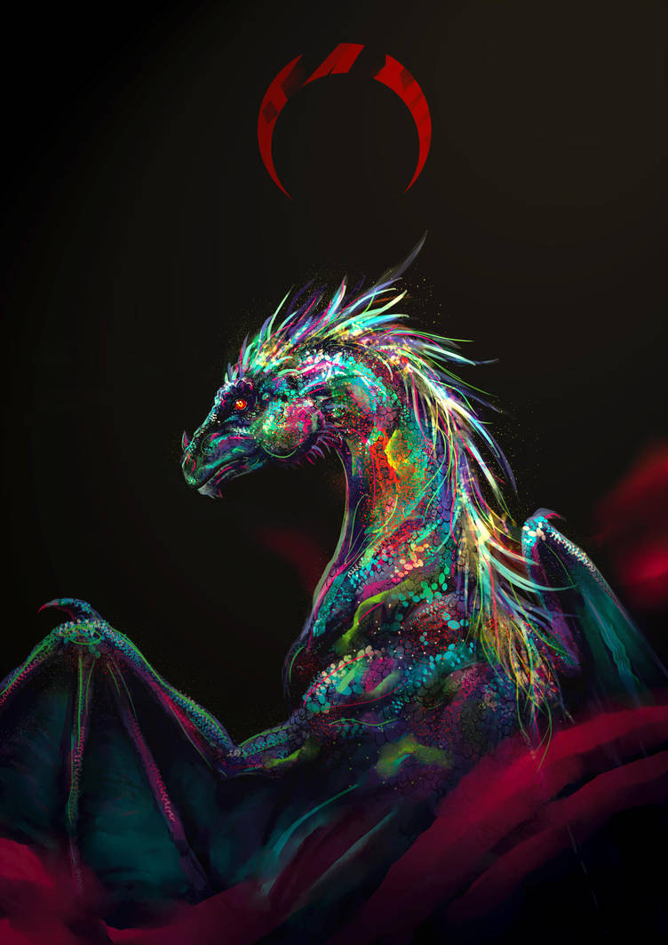 Opal dragon by LuckyTraveller