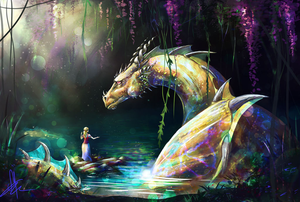 Water dragon by LuckyTraveller