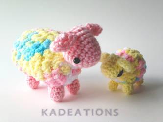 Rainbow Sheep by LucarioFan1996