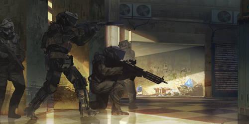 robotics warfare by MACCOLA