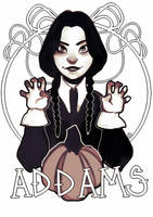 Wednesday Addams by Sugarskulli