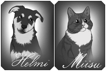 Helmi and Miisu by henu