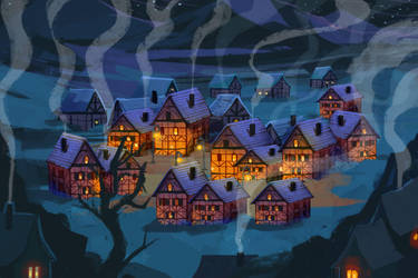 Mountain village by julitka