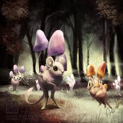 Pokemon Community Collab: Morelull [SPEEDPAINT] by ShadeofShinon