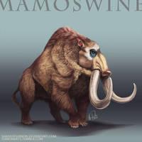 Pokemon Reimagined: Mamoswine by ShadeofShinon