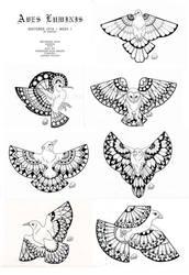 Aves Luminis - Inktober 2018 Week 1 by ShadeofShinon