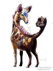 Pokeddex Your Choice DAY  29 - Girafarig by ShadeofShinon
