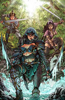 Commission  Art Trio Colored by geniuspen