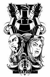 Delilah Blast T-Shirt Print for Kickstarter by geniuspen