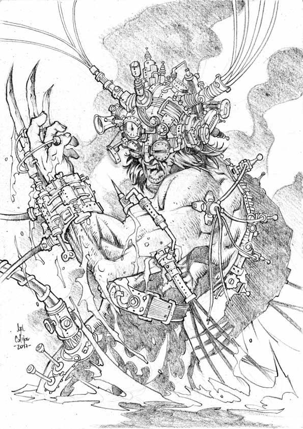 Steampunk_Weapon X by geniuspen