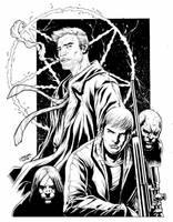 Crossover David of Ghost Assassin and Constantine by geniuspen