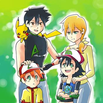 Ketchum Family by maimai97