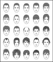 Men's Hair - Set 1 by dark-sheikah