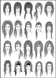 Men's Hair - Set 2 by dark-sheikah