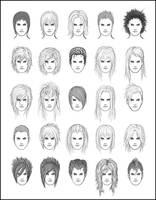 Men's Hair - Set 3 by dark-sheikah