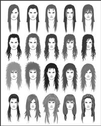 Men's Hair - Set 5 by dark-sheikah