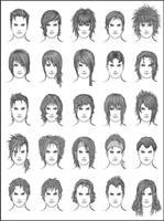 Men's Hair - Set 9 by dark-sheikah