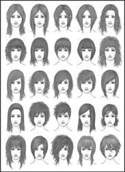 Women's Hair - Set 2 by dark-sheikah