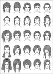 Men's Hair - Set 11 by dark-sheikah