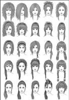 Women's Hair - Set 3 by dark-sheikah