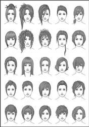 Women's Hair - Set 4 by dark-sheikah