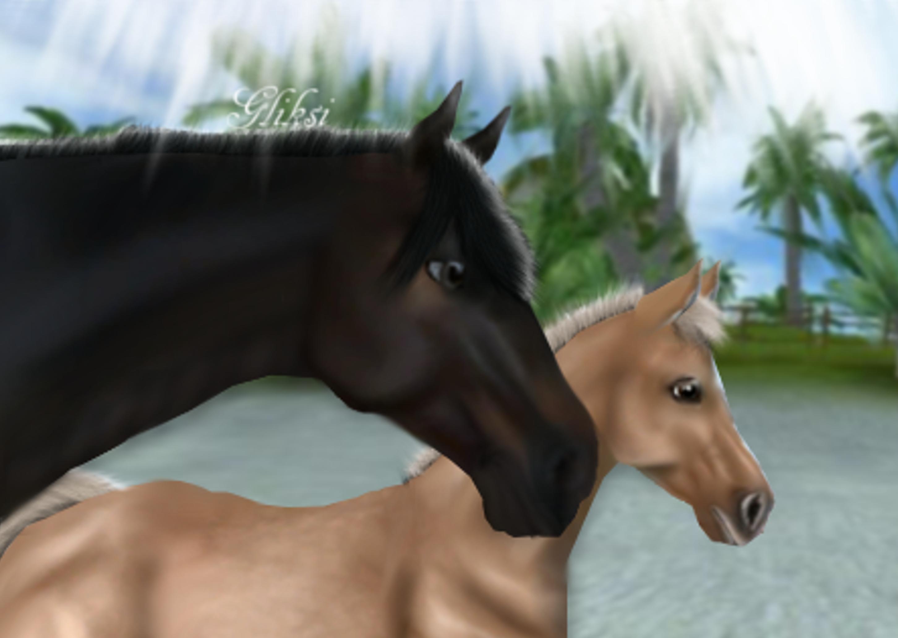 Mare and Foal by GliksiVanZero