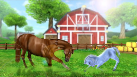 Hero and Foal by GliksiVanZero