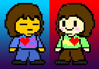 Frisk and Chara by Soltakama