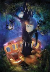 Totoro evening by Zetsuboushi