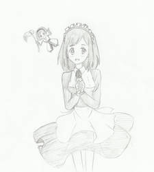Maid 1: Chino and Yokai (Inu x Boku SS) by kittyneko903