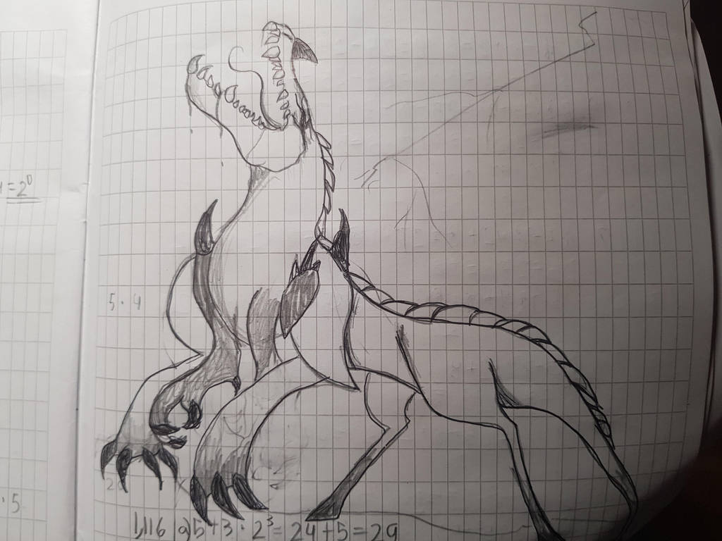 A drawing in my schoolbook by yadnamas2
