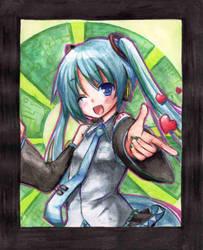 Miku Watercolors by NickBeja
