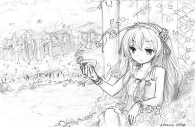 Eiza Sketchy sketch sketch by NickBeja