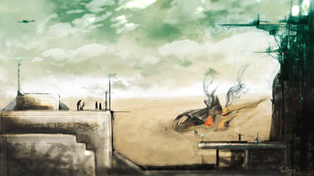 Desert crash by TheOrigin79