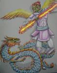 karura vs dragon by nameless50