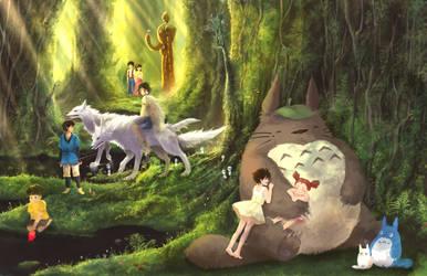 Ghibli Studio Forest by Astruma