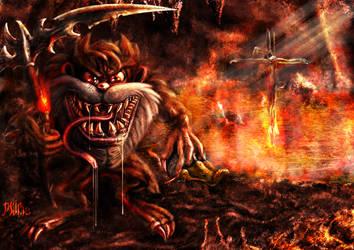 Tazmanian Arch Devil - taz - by Mingrune