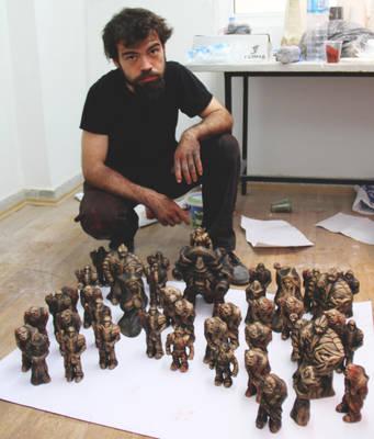 figures ceramic board game WIP SBYR by Mingrune