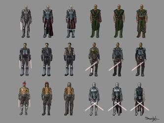 Dark Jedi Concepts by xashe