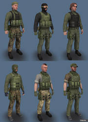 Red Team Woodland by marze3d