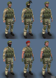 Blue Team Woodland01 by marze3d