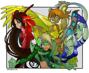Road Warriors Illustration by dawnbest