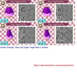 AC:NL: Super Angel Rose's Clothes Qr Code by Knuxamyloverfan