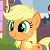 Young Applejack Icon by nightshadowmlp