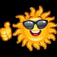 sun-thumbs-up by poisen2014