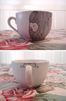 hand drawn teacup by songsforlunatics