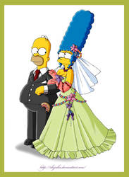 ..::homer and marge::.. by chijuku