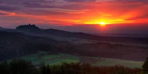 sunset panorama by MartinAmm