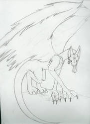 Demon as dragon by MiharuNiku