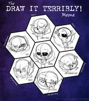 Draw it Terribly Meme (Sans) by DiamondwolfART